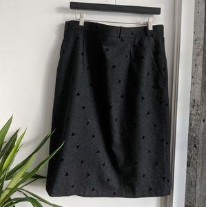 Charcoal grey pencil skirt